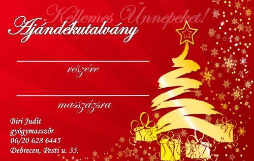 karácsonyi ajándékutalvany